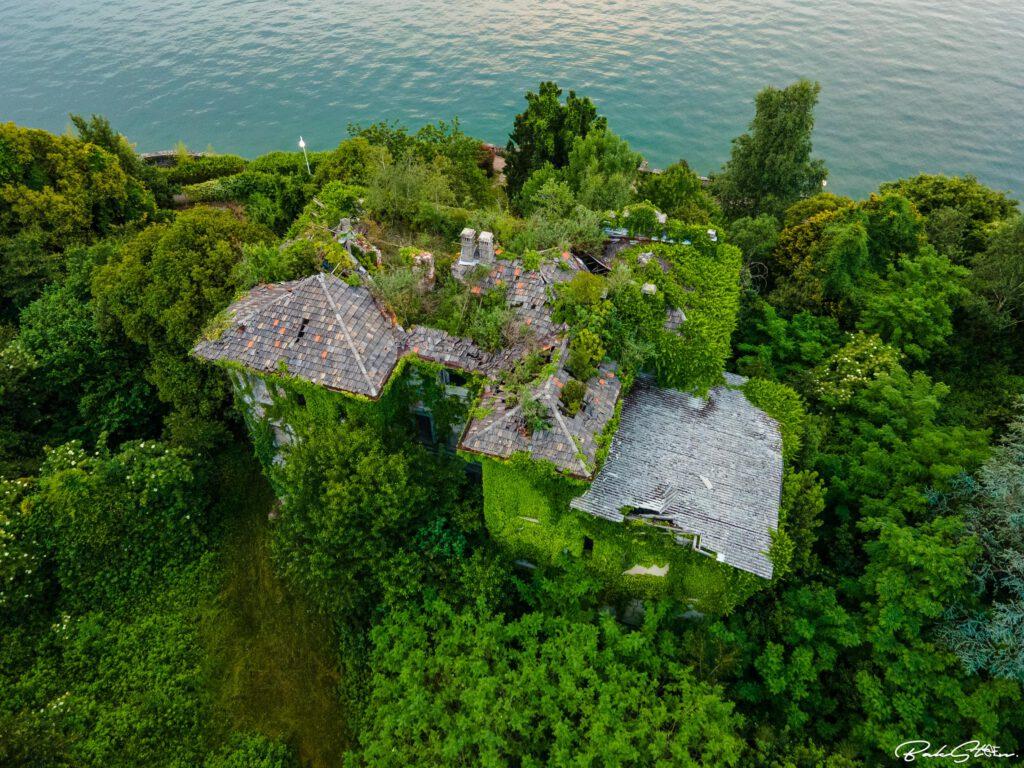 abandoned villa italy shot broken roof